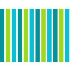 BW09 - Esta strepen blauw, groen en wit