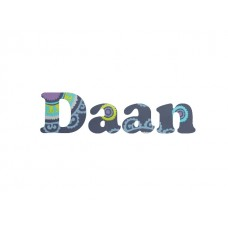 """Behang """"Naam"""" 4 letters"""