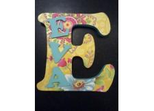 Combi piepschuim letter met 3 houten letters