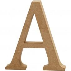 Houten letter 13 cm