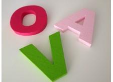 Piepschuim letter kleur Arial