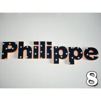 """Piepschuim """"Naam"""" 8 letters"""