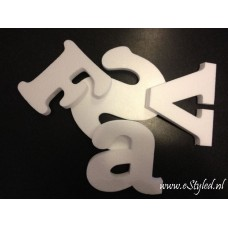 Piepschuim letter wit Arial