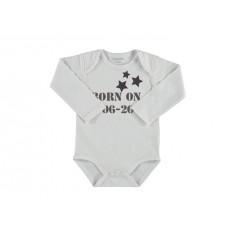 Baby rompertje lange mouw ster